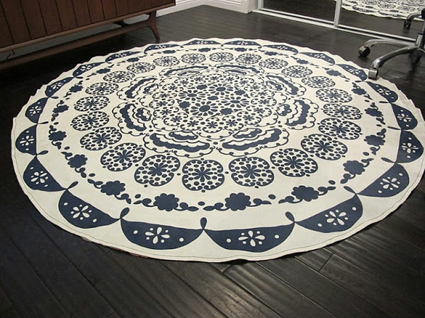Teppich rund schwarz weiß  DIY Teppiche und Fußmatten - Bunt wohnen !