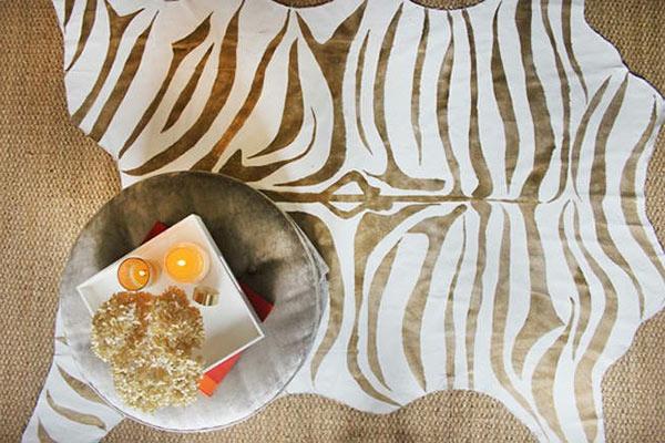DIY Teppiche und Fußmatten zebrastreifen braun