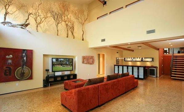 Deko aus Treibholz kunst wohnzimmer sofa