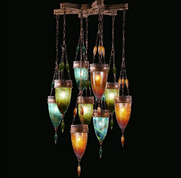 designer h ngeleuchten in der form von ornament und dekoration