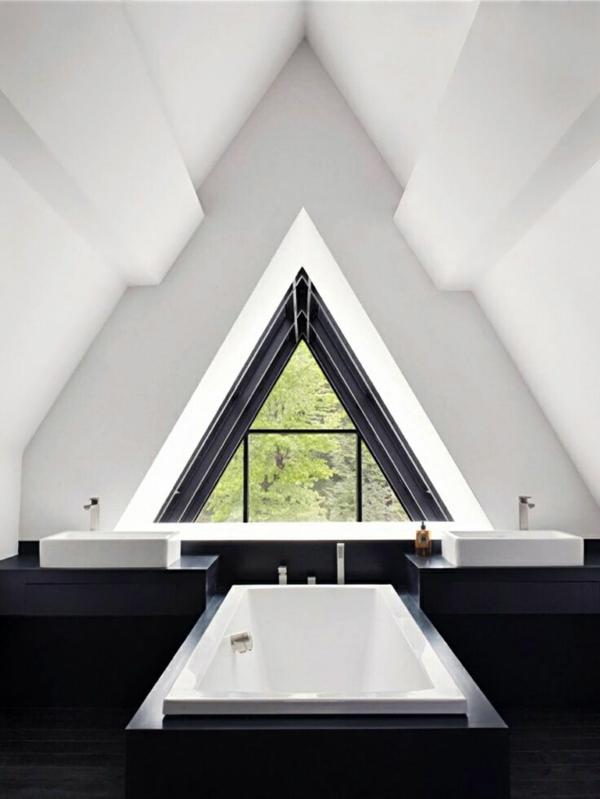 Dreiecksfenster fensterfolien rollos design schwarz