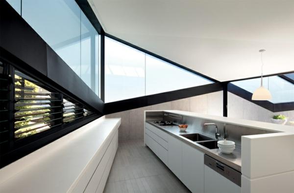 Dreiecksfenster verdunkeln fensterfolien rollos designs ecken