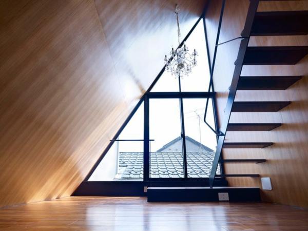 verdunkeln fensterfolien rollos Dreiecksfenster  designs