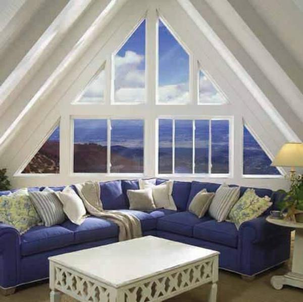 verdunkeln fensterfolien Dreiecksfenster  rollos designs holz
