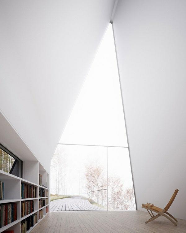 Dreiecksfenster verdunkeln fensterfolien rollos designs simpel