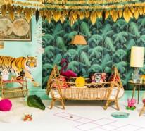 Dschungel Kindertapete  – Kinderzimmer gestalten