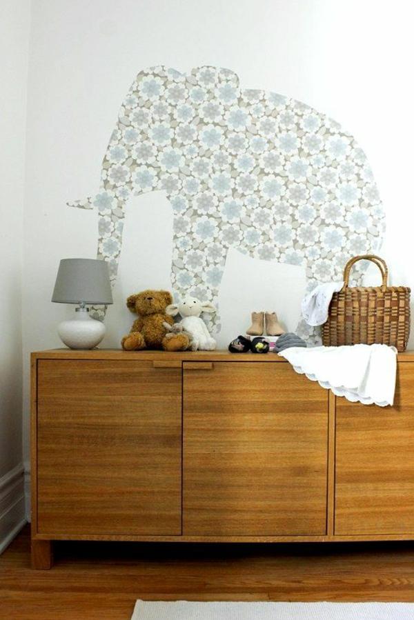 Dschungel-Kindertapete-Kinderzimmer-gestalten-elefant