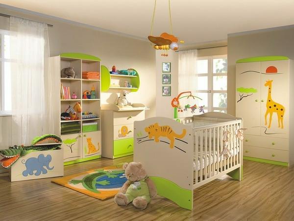 Dschungel regale sticker Kindertapete Kinderzimmer gestalten hell