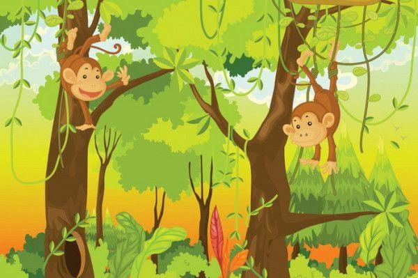 Dschungel Kindertapete Kinderzimmer Gestalten Leuchten