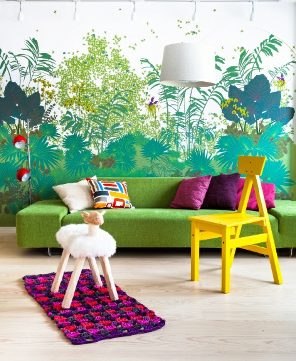 Dschungel kindertapete kinderzimmer gestalten for Decoration interieur solde