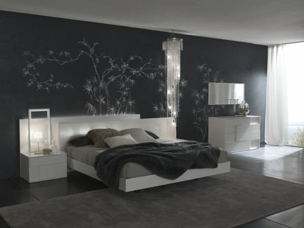 Feng Shui Schlafzimmer komplett farben gestalten schwarz
