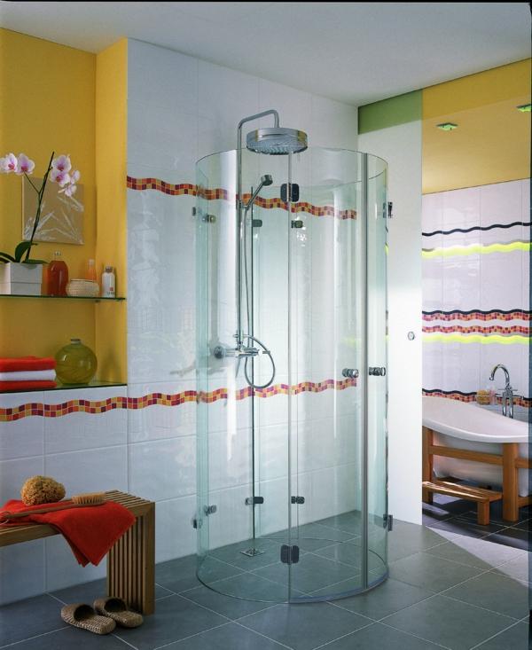 Fertig duschkabinen duschkabinen komplettduschen gelb