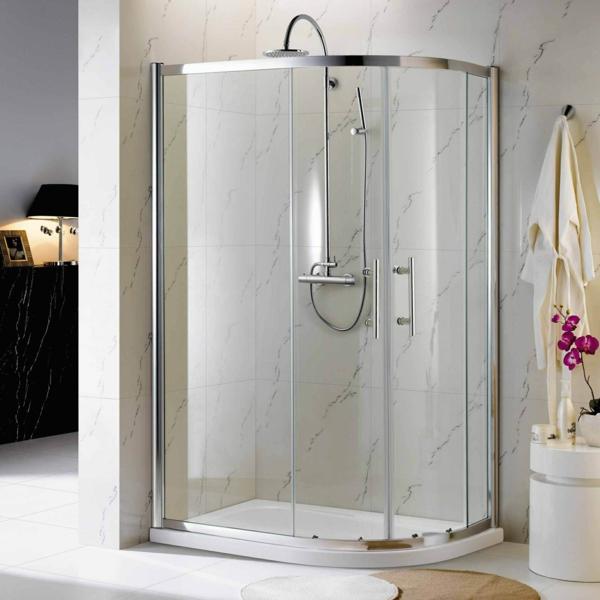 marmor fliesen duschkabinen komplett komplettduschen schiebetür