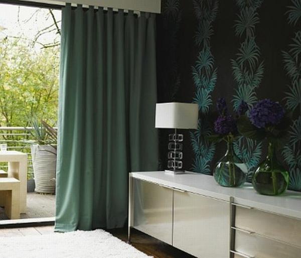 Gardinenideen vorhänge fenster modern designer dunkel