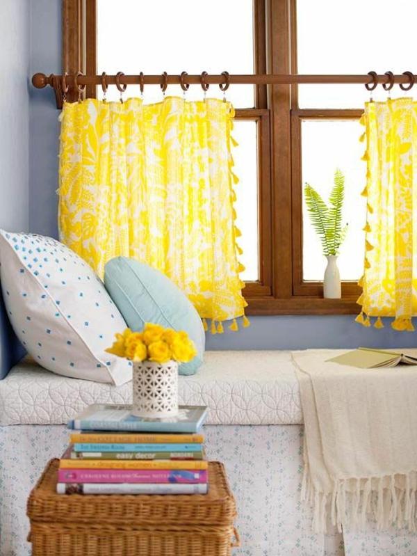 vorhänge fenster modern designer gelb frisch Gardinen