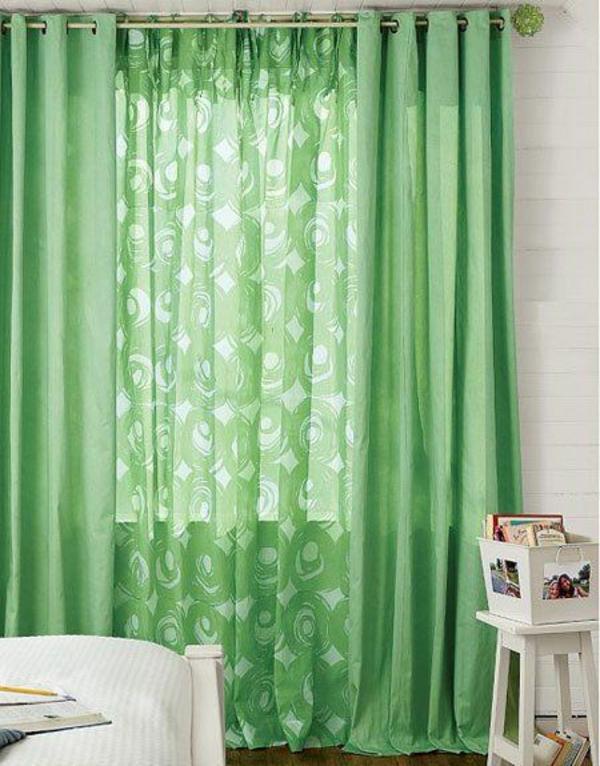 Ideen vorhänge fenster gardinen modern designer grün