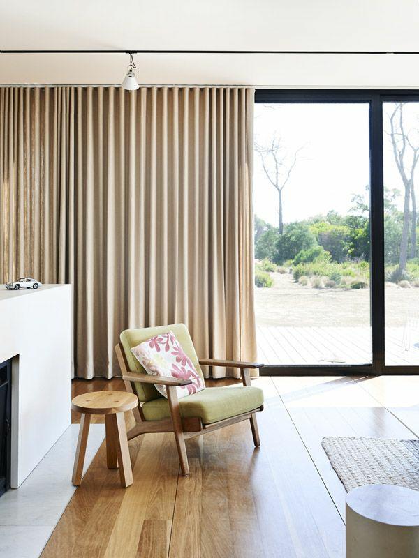 Gardinenideen vorhänge fenster modern designer holz