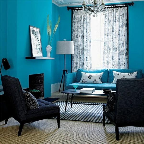 Gardinen vorhänge fenster modern designer kühn blau