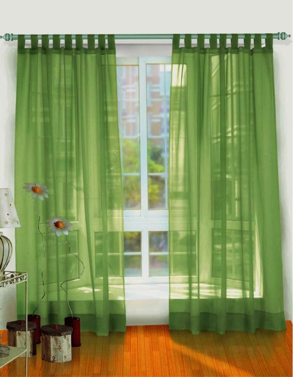 moderne Gardinenideen vorhänge fenster designer luftig grün