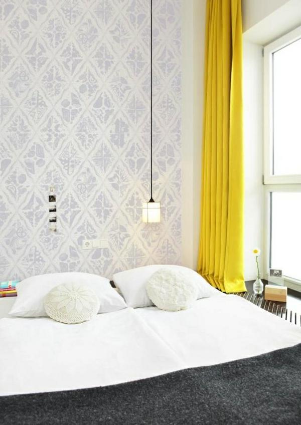 moderne Gardinenideen vorhänge fenster modern schlafzimmer