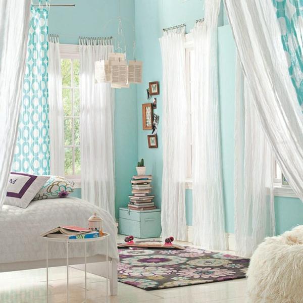 moderne Gardinenideen vorhänge fenster designer sofa