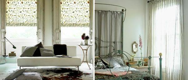 moderne Gardinenideen vorhänge fenster designer sofas