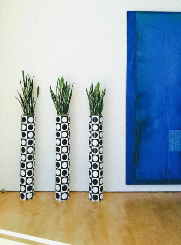Grünpflanzen Bilder bodenttopf gemustert