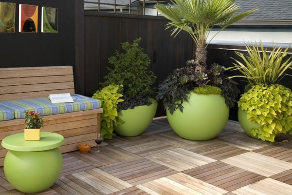 Grünpflanzen grün akzente Bilder exterior patio