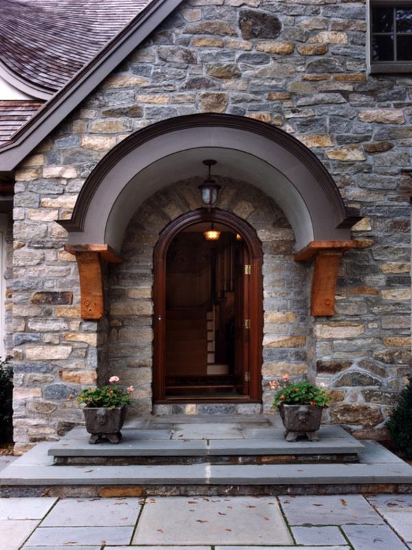 Hausvordächer  Haustürüberdachung und Vordächer aus Glas und Holz