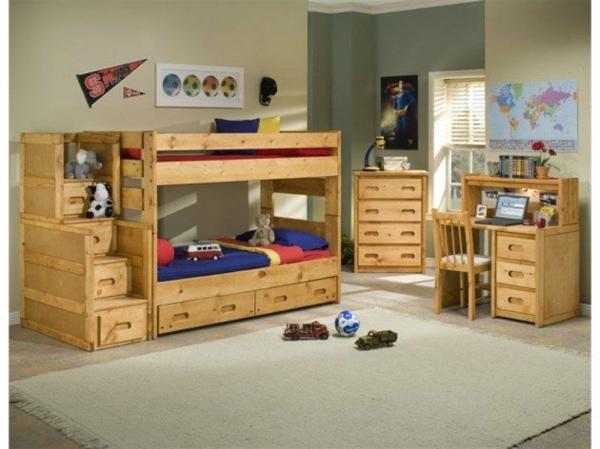 Kinderzimmermöbel massivholz  Hochbett im Kinderzimmer - 100 coole Etagenbetten für Kinder