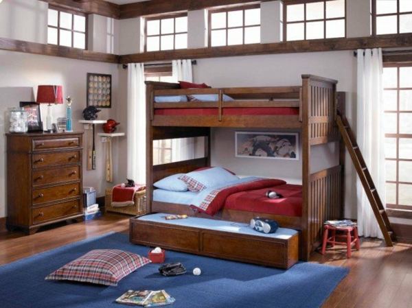 hochbett im kinderzimmer 100 coole etagenbetten f r kinder. Black Bedroom Furniture Sets. Home Design Ideas