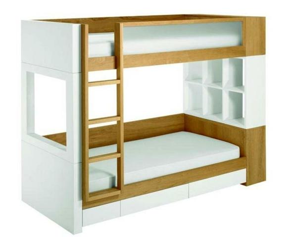 Hochbett Holz Weiß Kinder : Kinder doppelstockbett etagen hochbett holz