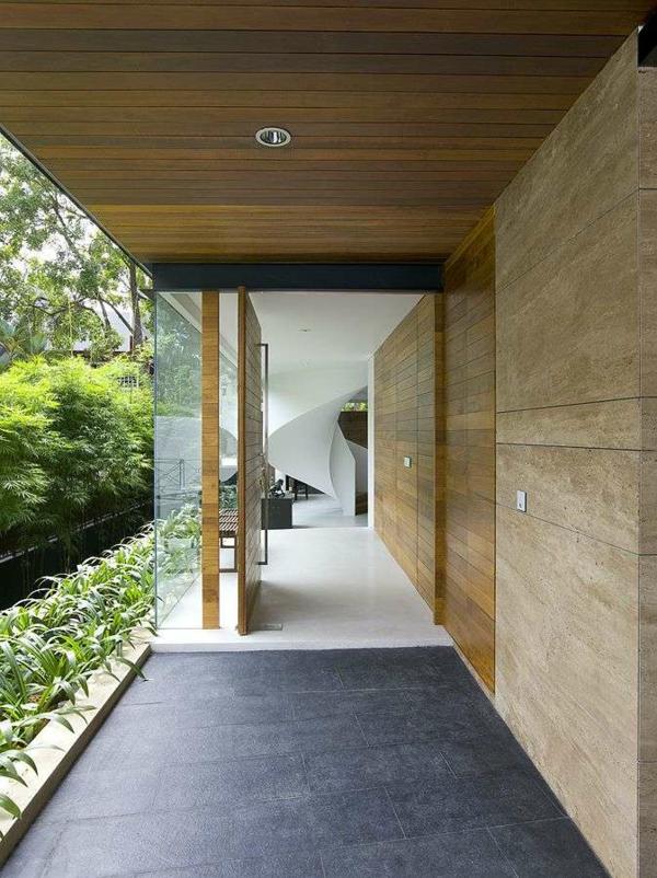Holzbungalow Fertighaus Holz und Blockhäuser überdachung