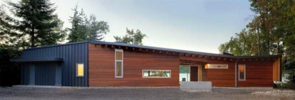 bungalow Fertighaus Holz und Blockhäuser bäume