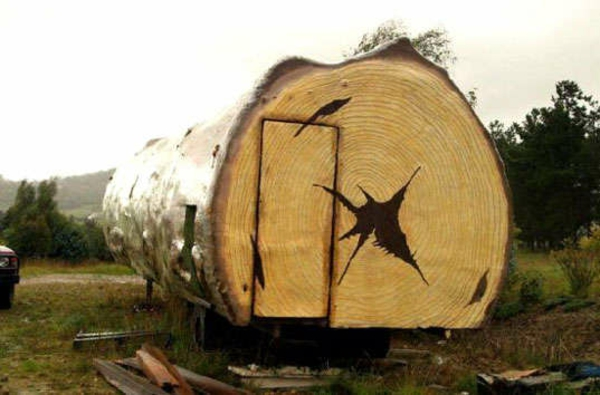 Holz bungalow Fertighaus Holz Blockhäuser baumstamm
