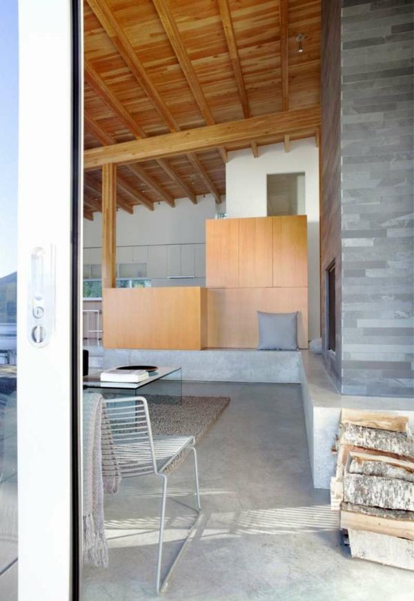 Holzbungalow Fertighaus Holz und Blockhäuser beton