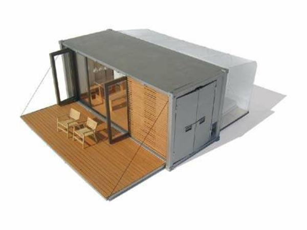 Holzbungalow projekt Fertighaus Holz und Blockhäuser entwurf