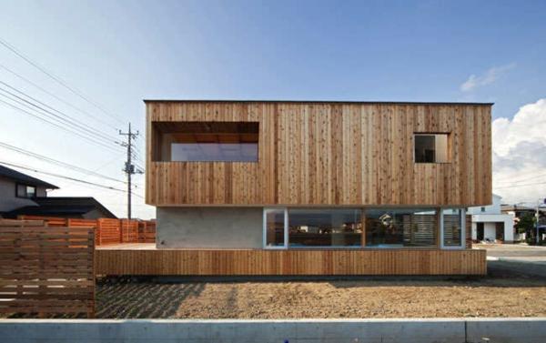 bungalow Fertighaus Holz und Blockhäuser geometrie