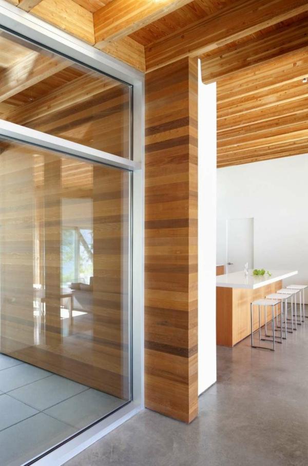 Holz und Blockhäuser Holz bungalow Fertighaus gleittüren