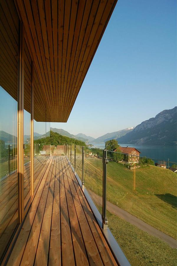 bungalow Holz und Blockhäuser Fertighaus gras
