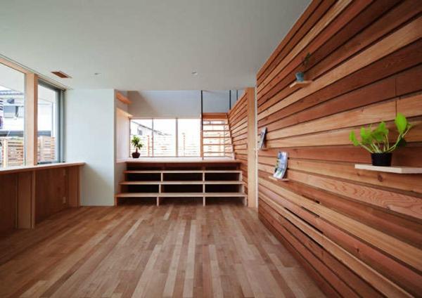 Holzbungalow Holz und Blockhäuser innen Fertighaus
