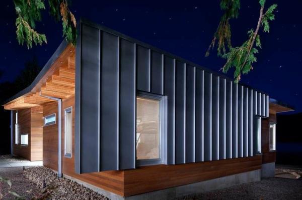 Fertighaus Holz und Blockhäuser Holzbungalow metall