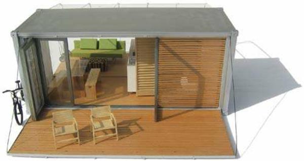 Holzbungalow Fertighaus Holz und Blockhäuser veranda