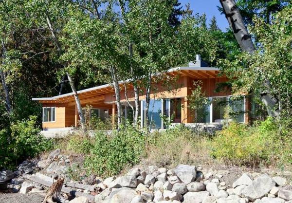 Holzbungalow Fertighaus Holz und Blockhäuser wild natur