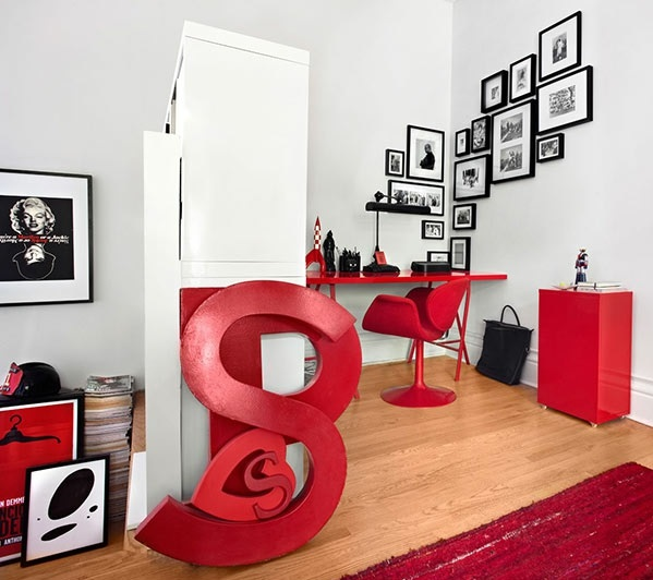 Innendesign Ideen vom Couch House rot stuhl