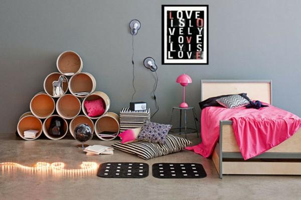 Wunderbar Kinderzimmer Deko Tapeten Bett Weich Grau Farbgestaltung