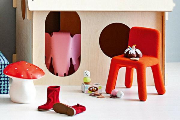 Kinderzimmer Deko Tapeten : Kinderzimmer Deko tapeten bett weich rot kleinstuhl