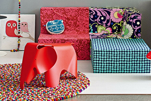 Kinderzimmer Deko Tapeten : Kinderzimmer Deko tapeten bett weich sofa