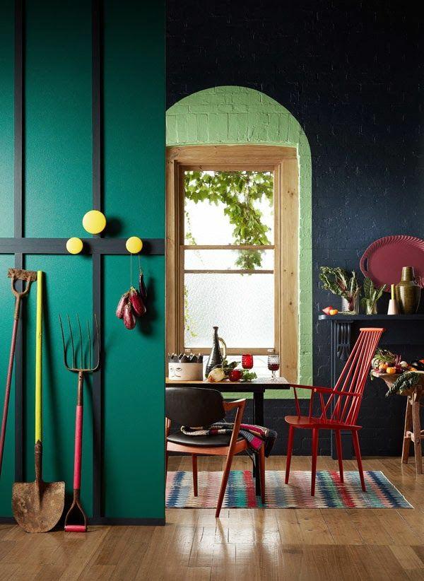 Petrol Farbe als Wandfarbe und Deko  AlleIdeen