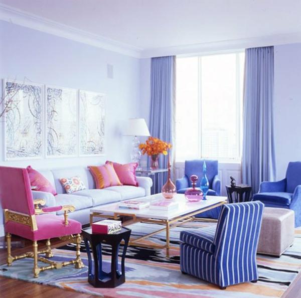 Kombinationen von Wandfarben frisch hell